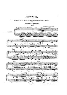 Fantasia on Theme from 'La Juive' by Halevy, Op.31: Fantasia on Theme from 'La Juive' by Halevy by Stephen Heller