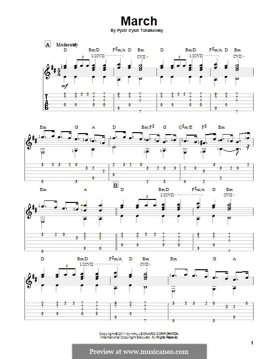 No.2 March: For guitar by Pyotr Tchaikovsky