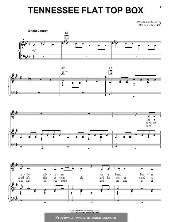 tennessee flat top box by j cash sheet music on musicaneo. Black Bedroom Furniture Sets. Home Design Ideas