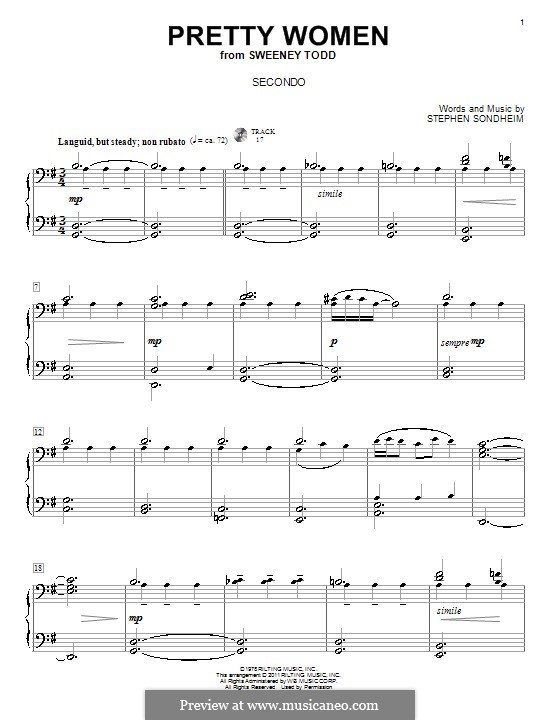 Pretty Women: For piano four hands by Stephen Sondheim