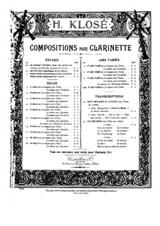 Solo No.7 for Clarinet and Piano, Op.17: Solo No.7 for Clarinet and Piano by Hyacinthe Eléonore Klosé