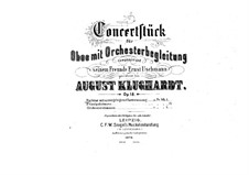 Concert Piece for Oboe with Orchestra, Op.18: Concert Piece for Oboe with Orchestra by August Klughardt