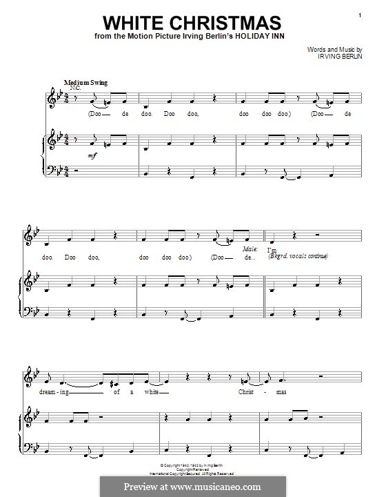 White Christmas: For voice and piano (Michael Buble) by Irving Berlin