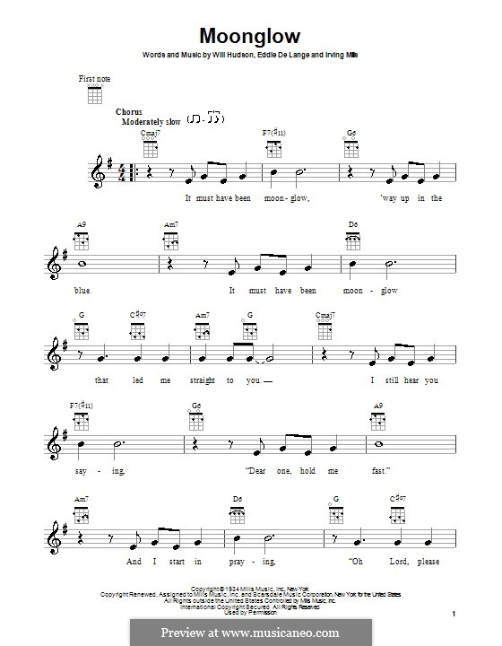 Moonglow: For ukulele by Irving Mills, Eddie De Lange, Will Hudson