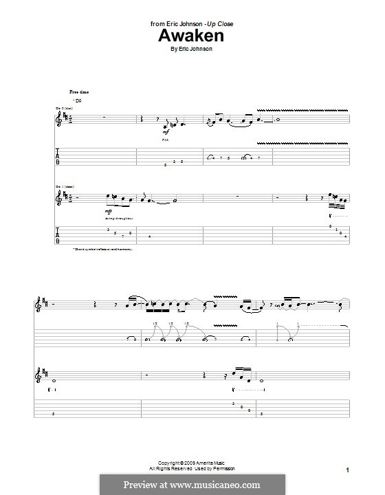 Awaken: For guitar with tab by Eric Johnson