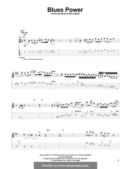 Blues Power: For guitar with tab by Eric Clapton, Leon Russell