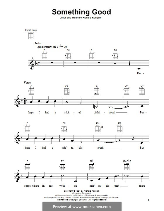 Something Good (from The Sound of Music): For ukulele by Richard Rodgers