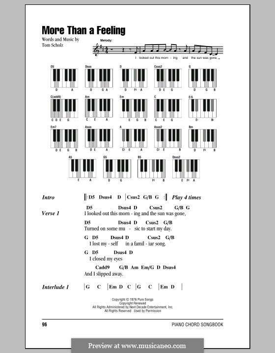 More Than a Feeling (Boston) by T. Scholz - sheet music on MusicaNeo