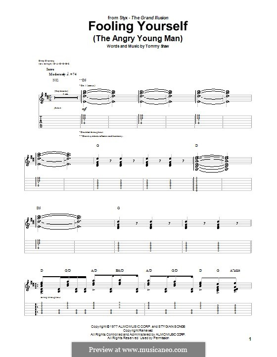 Fooling Yourself (The Angry Young Man): For guitar with tab (Styx) by Tommy Shaw