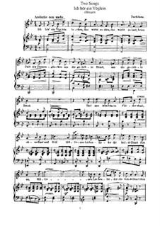 Two Songs, WoO 18: Two Songs by Felix Mendelssohn-Bartholdy
