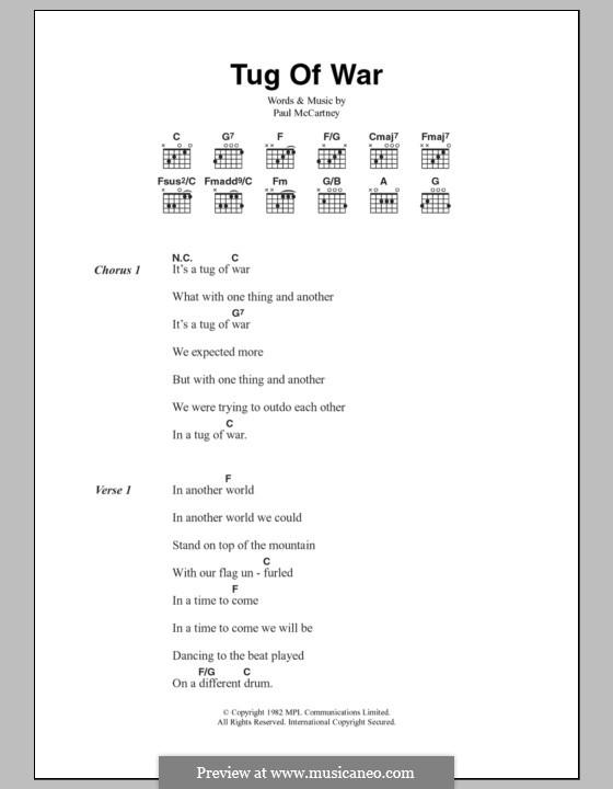 Tug of War: Lyrics and chords by Paul McCartney