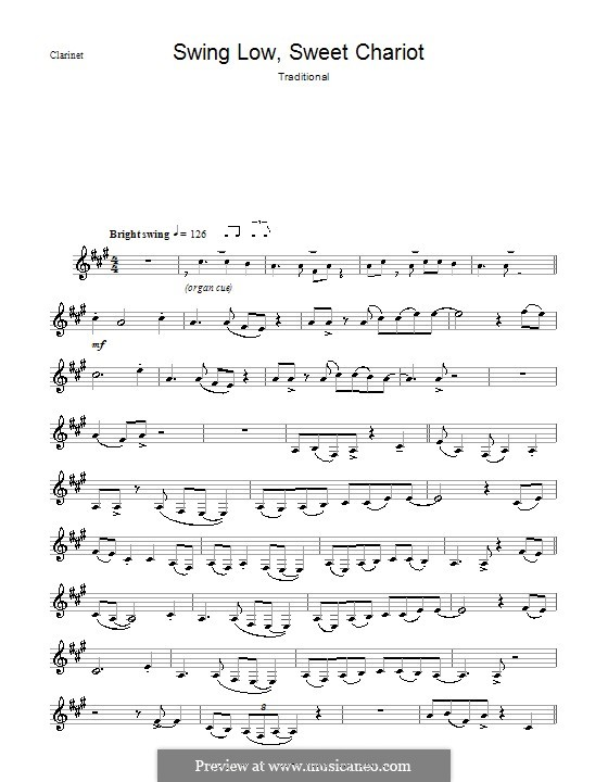 Swing Low, Sweet Chariot: For clarinet by folklore