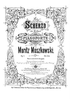 Scherzo for Piano, Op.1: For a single performer by Moritz Moszkowski
