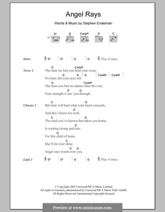 Angel Rays (Sissel): Lyrics and chords by Stephen Endelman