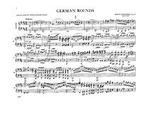 German Rounds, Op.25: For piano four hands by Moritz Moszkowski