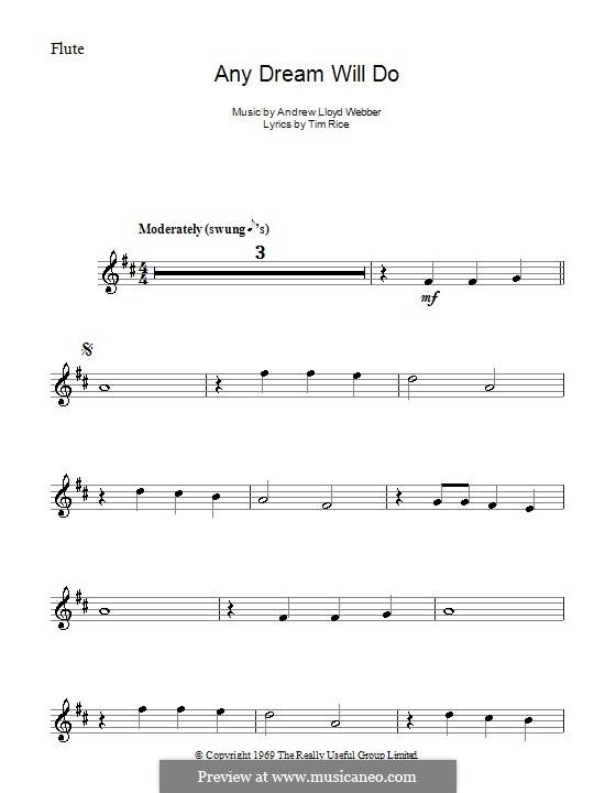 Any Dream Will Do: For flute by Andrew Lloyd Webber