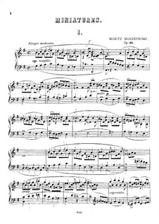 Five Miniatures, Op.28: For a single performer by Moritz Moszkowski