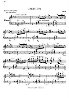 Gondoliera, Op.41: Gondoliera by Moritz Moszkowski