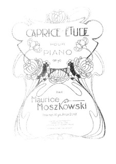 Two Pieces for Piano, Op.70: Complete set by Moritz Moszkowski