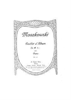 Three Pieces for Piano, Op.86: Three Pieces for Piano by Moritz Moszkowski