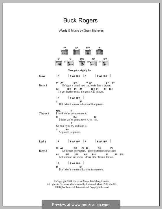 Buck Rogers Feeder By G Nicholas Sheet Music On Musicaneo