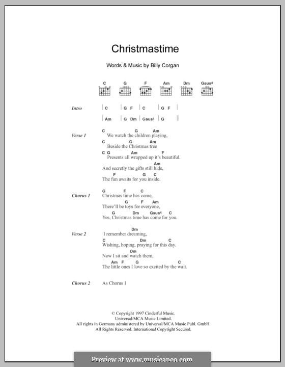 Christmastime (The Smashing Pumpkins): Lyrics and chords by Billy Corgan