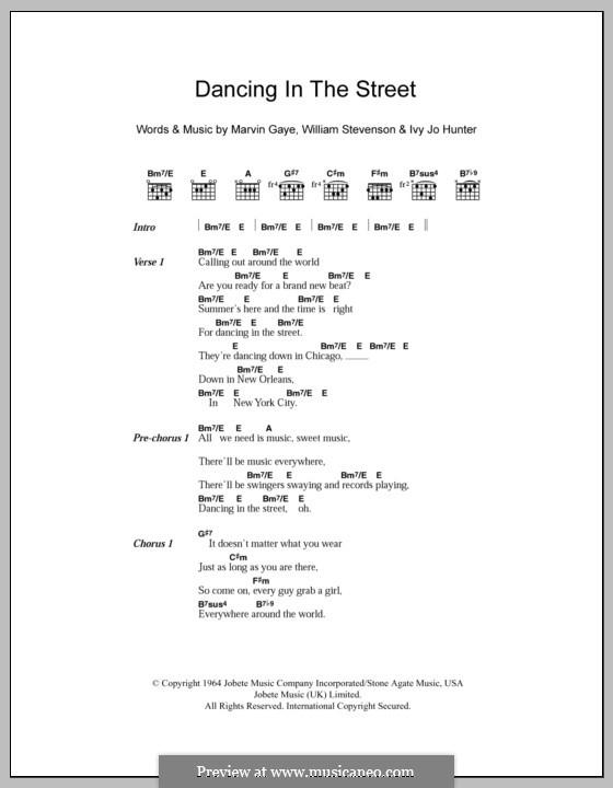 Dancing in the Street (Martha & The Vandellas) by I.J. Hunter, M.P. ...