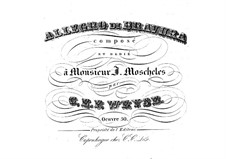 Allegro di bravura in A Minor, Op.50: For piano by Christopher Ernst Friedrich Weyse