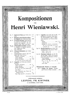 Two Salon Mazurkas for Violin and Piano, Op.12 Nos.1-2: Two Salon Mazurkas for Violin and Piano by Henryk Wieniawski