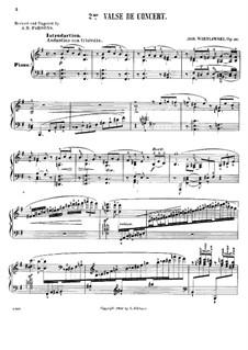 Concert Waltz, Op.30: Concert Waltz by Józef Wieniawski