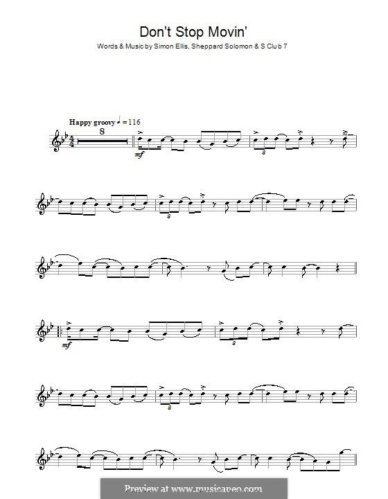 Don't Stop Movin': For flute by S Club 7, Sheppard Solomon, Simon Ellis
