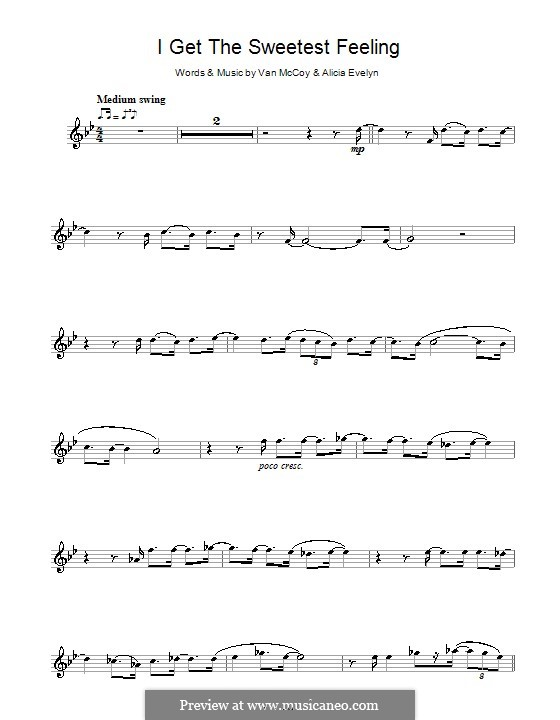 I Get the Sweetest Feeling (Jackie Wilson): For flute by Alicia Evelyn, Van McCoy