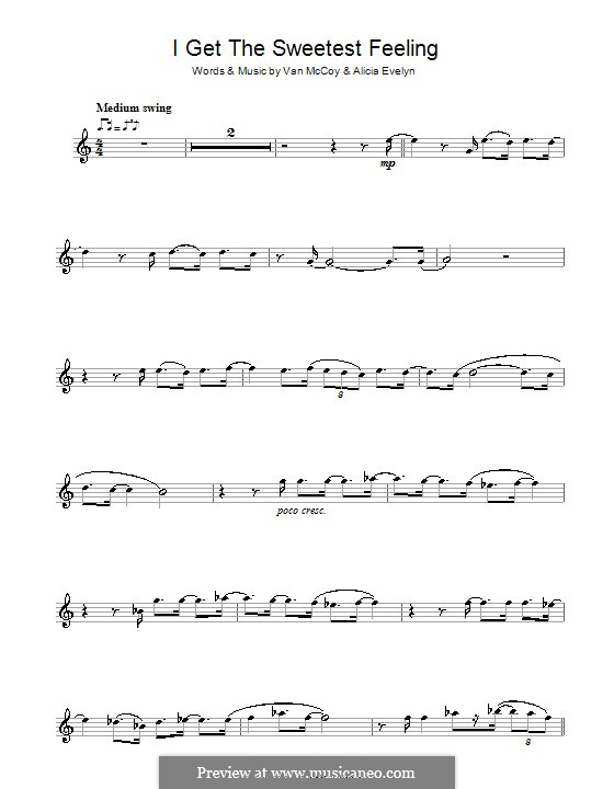 I Get the Sweetest Feeling (Jackie Wilson): For clarinet by Alicia Evelyn, Van McCoy