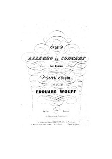 Grand Allegro de concert, Op.39: Grand Allegro de concert by Edouard Wolff