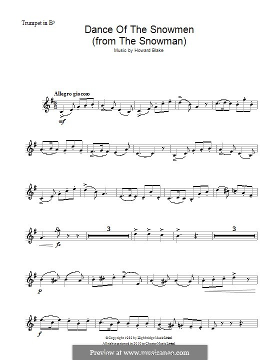 Dance of the Snowmen: For trumpet by Howard Blake
