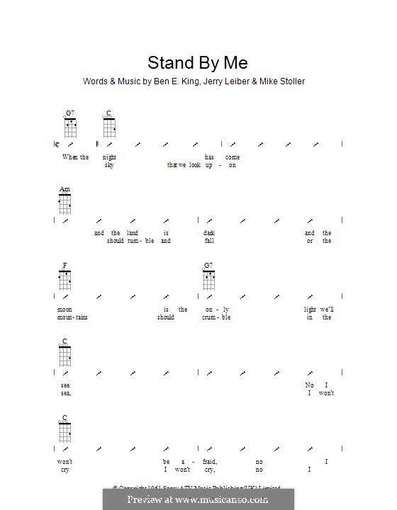 Stand By Me: Ukulele with strumming patterns by Ben E. King, Jerry Leiber, Mike Stoller