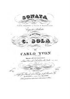 Sonata for Cor Anglais or Viola and Piano: Sonata for Cor Anglais or Viola and Piano by Carlo Yvon