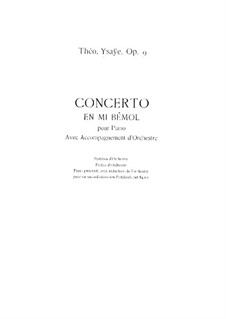 Piano Concerto in E Flat Major, Op.9: Arrangement for two pianos by Théo Ysaÿe