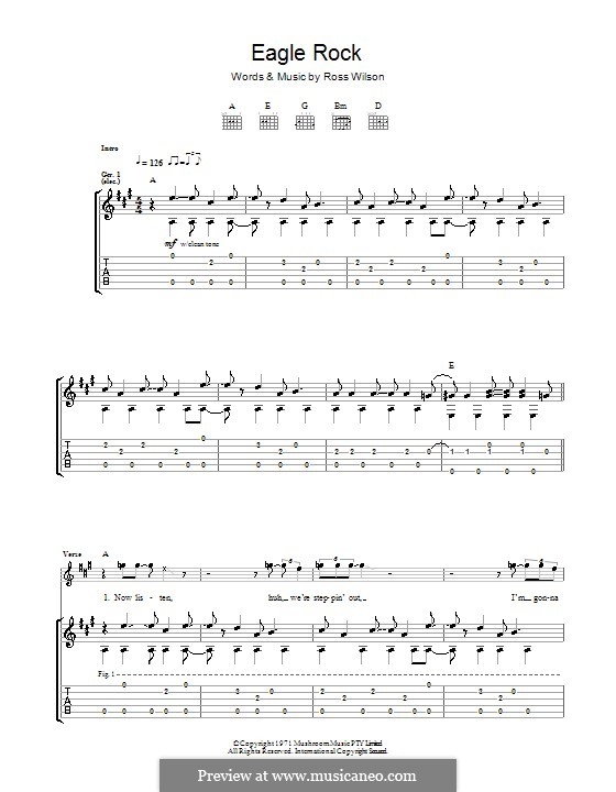 Eagle Rock Daddy Cool By R Wilson Sheet Music On Musicaneo