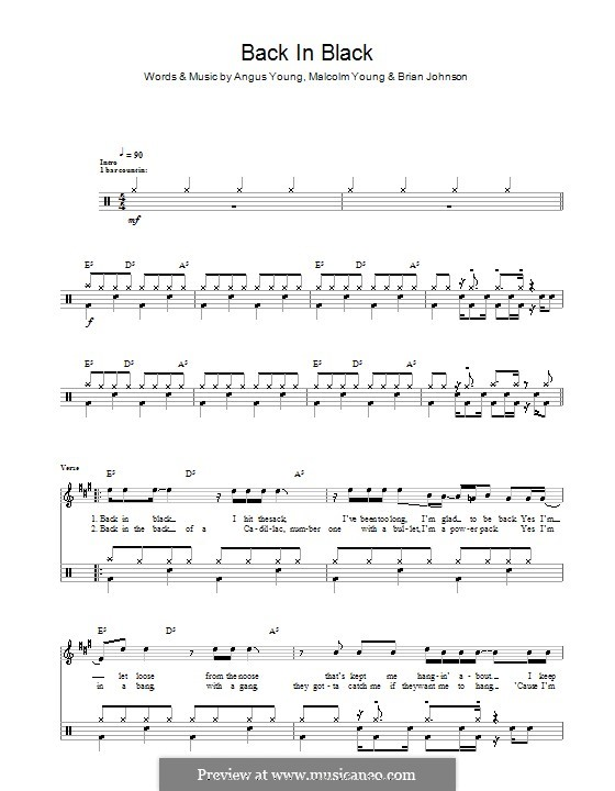Drum drum tabs for back in black : godfather theme guitar tabs Tags : godfather theme guitar tabs ...