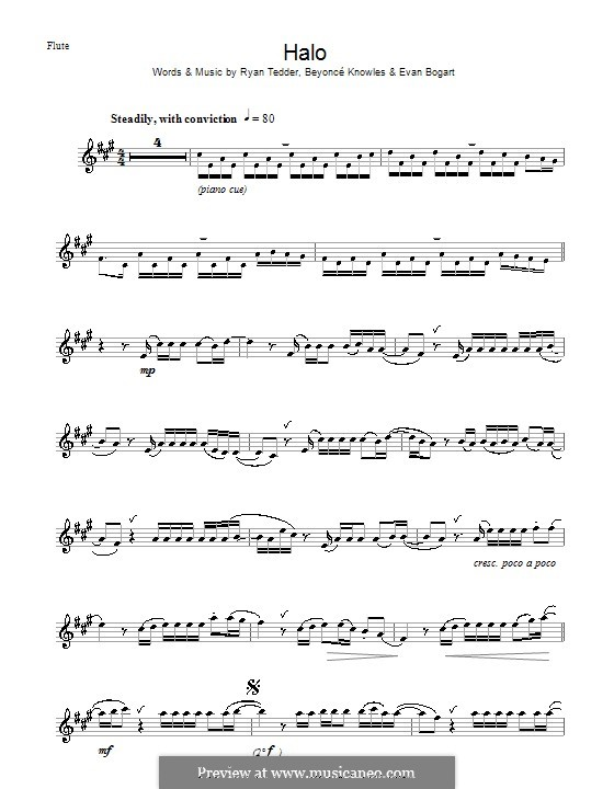 Halo: For flute by Beyoncé, Evan Kidd Bogart, Ryan B Tedder