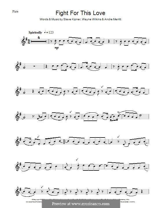 Fight for This Love (Cheryl Cole): For flute by Andre Merritt, Stephen Alan Kipner, Wayne Wilkins