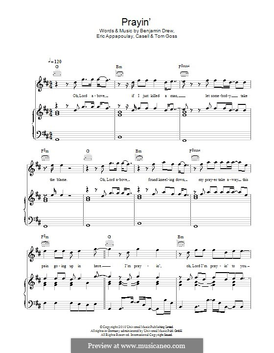 Prayin' (Plan B): For voice and piano (or guitar) by Casell, Benjamin Ballance-Drew, Eric Appapoulay, Tom Goss
