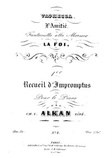 Four Impromptus for Piano, Op.32: For a single performer by Charles-Valentin Alkan