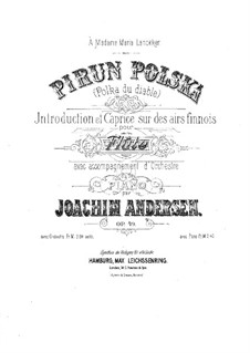 Pirun Polska (Devils Polka), Op.49: For flute and piano – score, solo part by Joachim Andersen