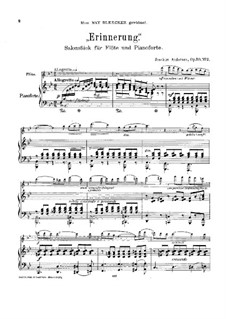 Two Pieces for Flute and Piano, Op.53: No.2 Memory by Joachim Andersen