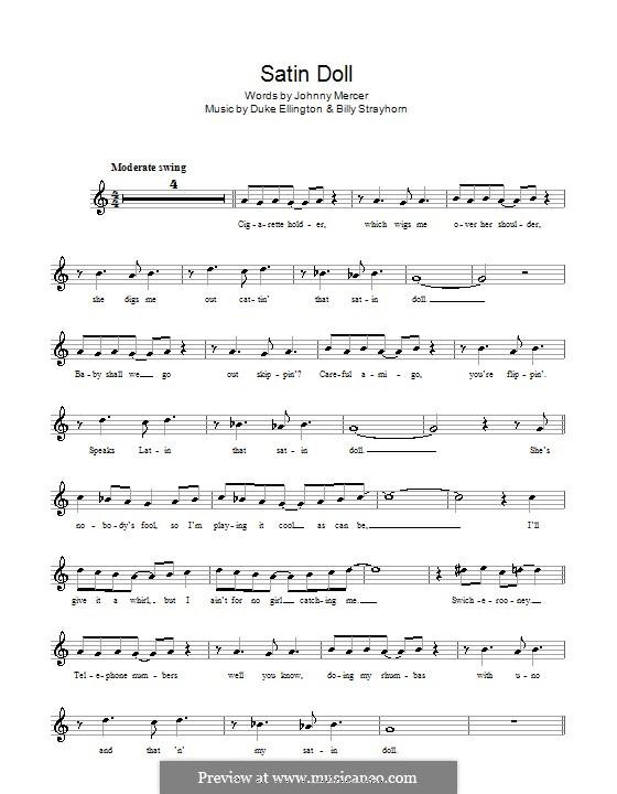 Satin Doll: Melody line, lyrics and chords by Billy Strayhorn, Duke Ellington