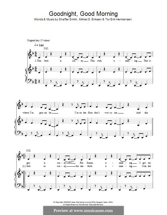 Good Night Good Morning: For voice and piano (or guitar) by Mikkel Storleer Eriksen, Ne-Yo, Tor Erik Hermansen