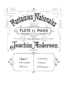 National Fantasias, Op.59: No.1 Danois by Joachim Andersen