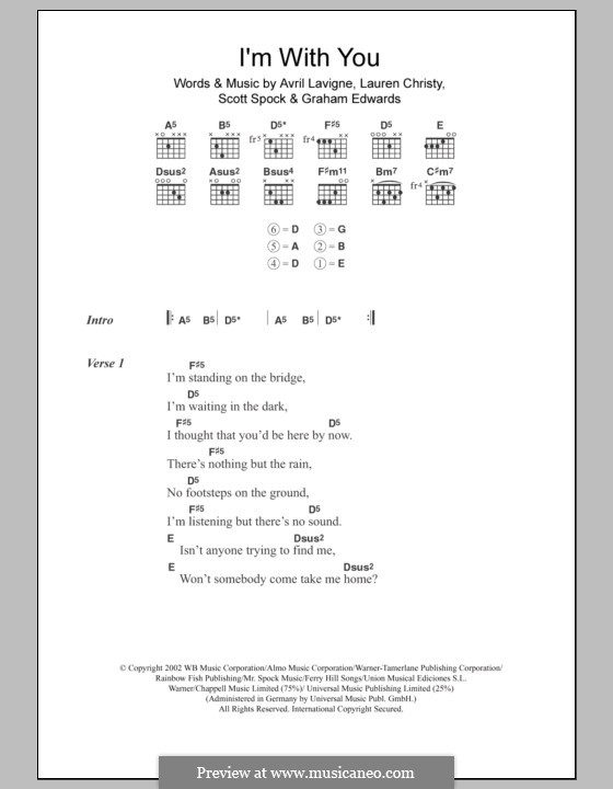 Images of Im With You Chords - #rock-cafe
